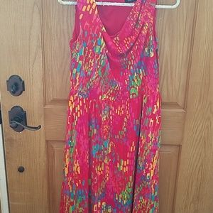 Ellen tracy size 8 colorful tank dress